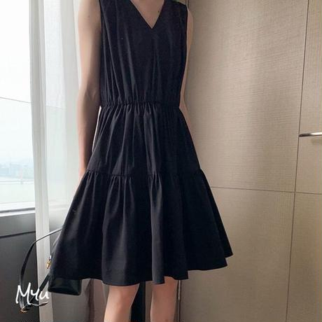 【LADIES】 Tiered Dress ティアード ワンピース