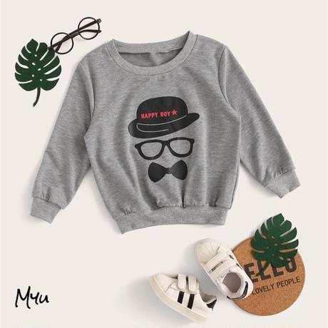 受注発注【80〜120】Happy boy sweatshirt