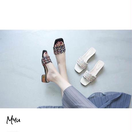 受注発注【Mom】Tweed sandal