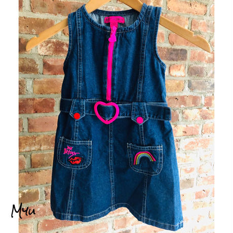 即納🇺🇸【110〜120cm】BETSEY JOHNSON Denim  overalls