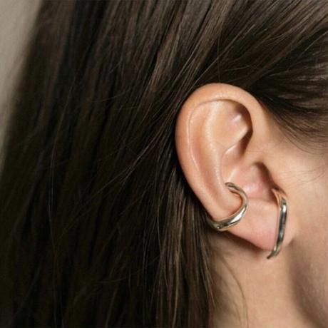 【JEWELRY】EAR CUFF シングルイヤーカフ/ロジウムコーティング or 14Kゴールドコーティング