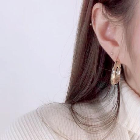【JEWELRY】EARRINGS ツイストフープピアス/S925 & K14ゴールドコーティング