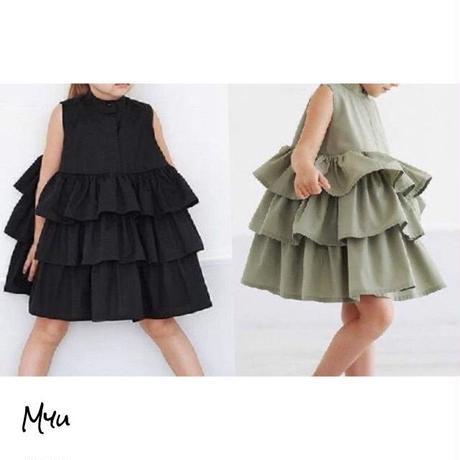 受注発注【95〜120cm】Frill  dress