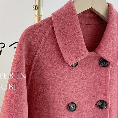 【80-150cm】COAT ウールリバーステンカラーコート