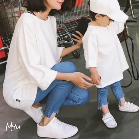 即納🇰🇷【親子 Mom】Simple tunic