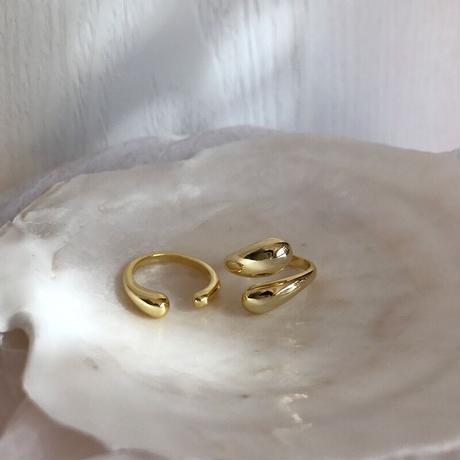 【JEWELRY】RING オープンリング/S925 & ロジウムコーティング or K14ゴールドコーティング