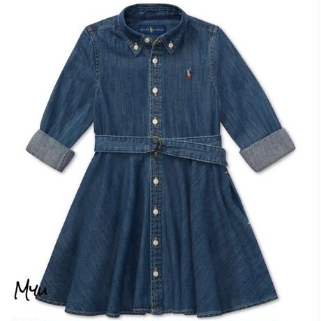 受注発注【95〜125cm】Polo Ralph Lauren Cotton denim shirtdress