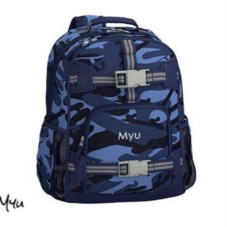 お急ぎ便対応pottery barn kids【Small】Mackenzie Blue Skateboard Camo Backpack