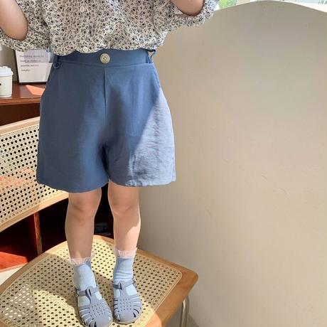 【80-150cm】PANTS バックギャザー ショートパンツ