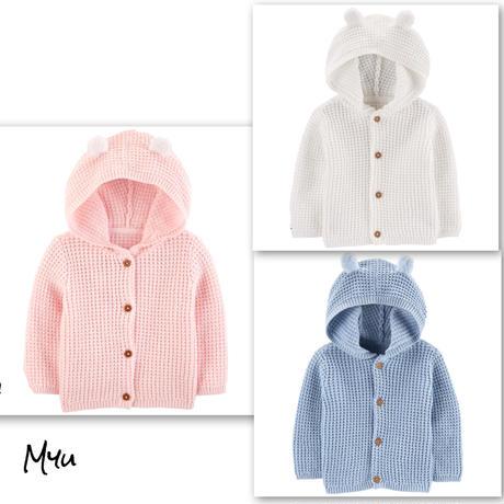 お急ぎ便対応 受注発注【50〜80cm】carter's hooded cardigan