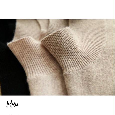 受注発注🇰🇷【LADIES】Cashmere Mix Wool High Neck Knit