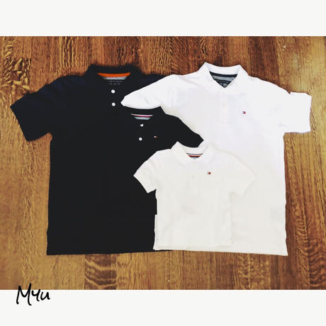 即納🇺🇸【親子】TOMMY HILFIGER Basic polo shirt set
