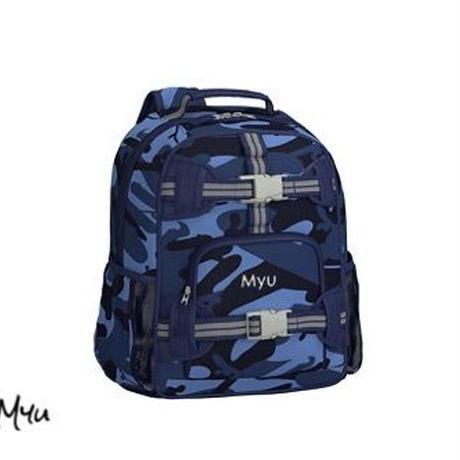 お急ぎ便対応pottery barn kids【Mini】Mackenzie Blue Skateboard Camo Backpack
