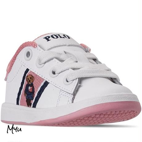 受注発注【12〜17cm】Polo Ralph Lauren Quilton  bear casual sneakers
