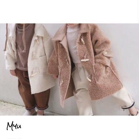 受注発注【80〜130cm】Ram wool coat