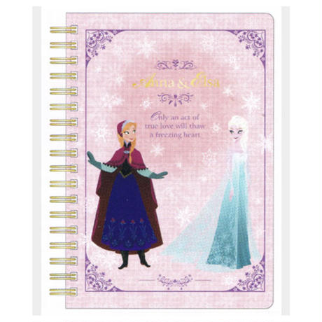 アナと雪の女王 WリングノートB6 Series2 ピンク