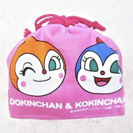 アンパンマン『お弁当袋(カラフル)』ピンク  /  ランチ巾着