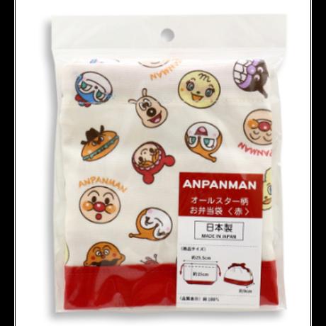 アンパンマン『オールスター柄 お弁当袋』赤  /  ランチ巾着