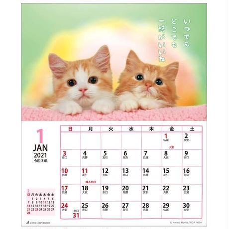 2021年 リトルキャット 卓上カレンダー ACL-537