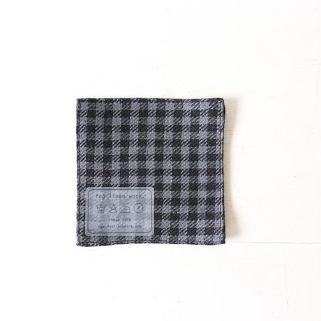 fog linen workのコースター  ブラック系