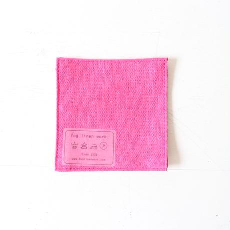 fog linen workのコースター  ピンク系