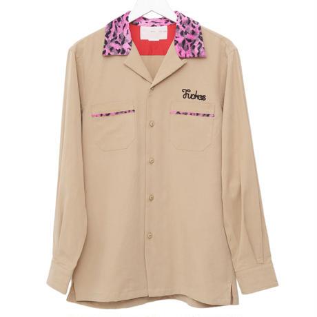 【SALE】Leopard collar open-neck shirts