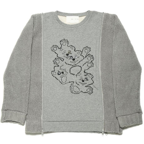 【SALE】Hand Dyed Mohair Re-Make Knit col.Gry