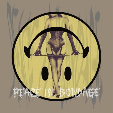 Peace in bondage Big silhouette tee / Acid khaki