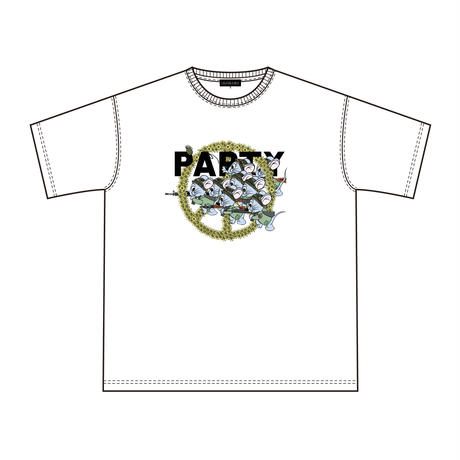 Mouse soldier Big silhouette tee /  White