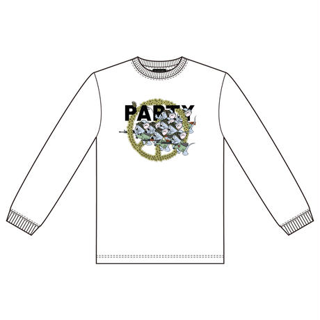 Mouse soldier Long sleeve tee / White