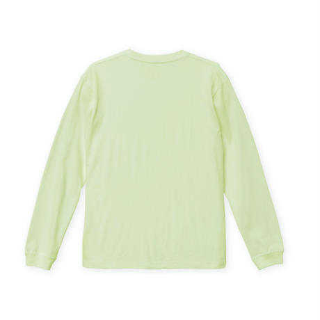Mouse soldier Long sleeve tee / Milky lime