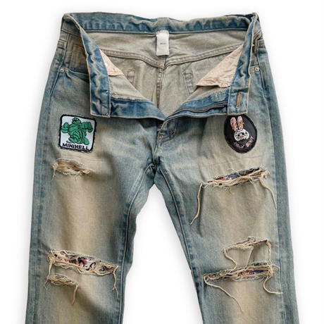 Damge denim Pants