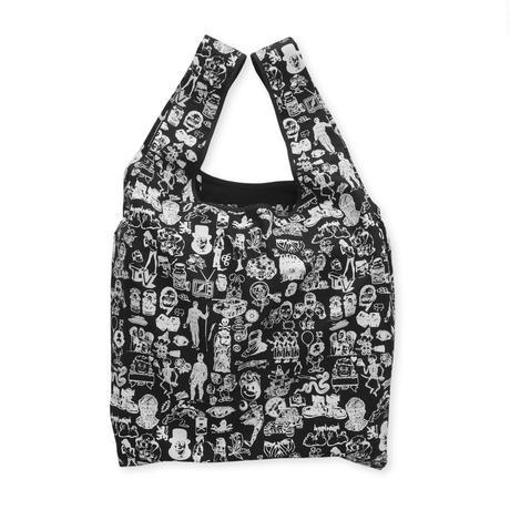 Original silk print Eco bag / Black