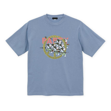 Mouse soldier Big silhouette tee / Acid blue