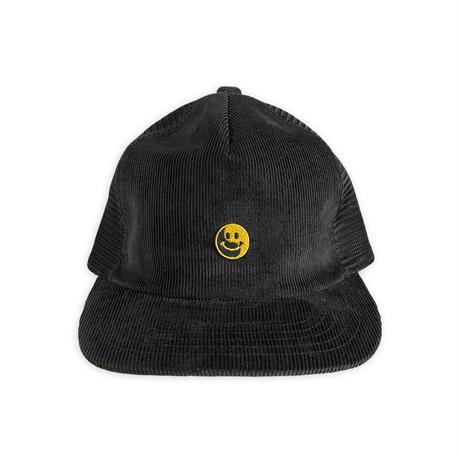Smile embroidery Corduroy  mesh cap