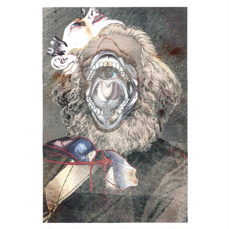 Marx collage Long sleeve tee / White