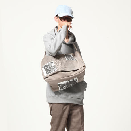 Pulsar embroidery Messenger bag / Gray