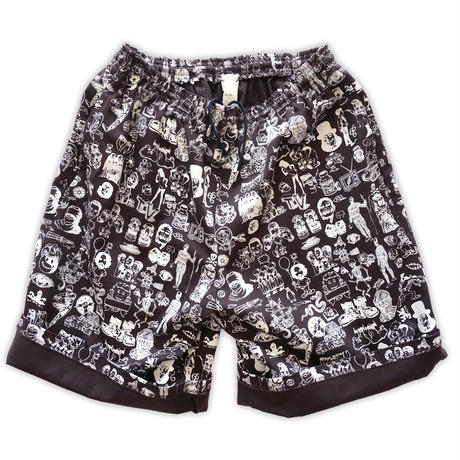 Original silk print easy shorts