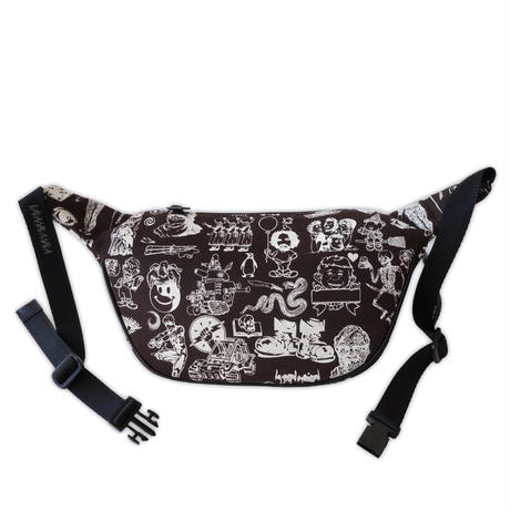 Original silk print west bag / Chco