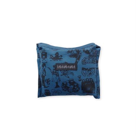 Original silk print Eco bag / D.blue