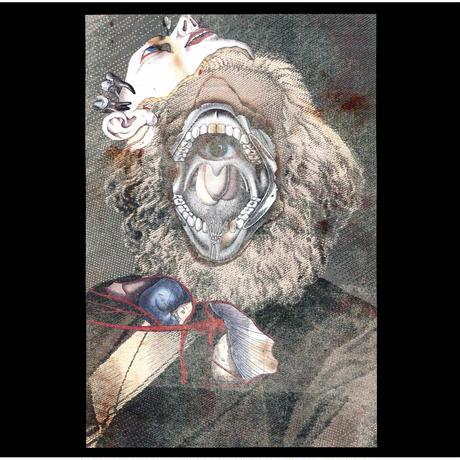 Marx collage Long sleeve tee / Black