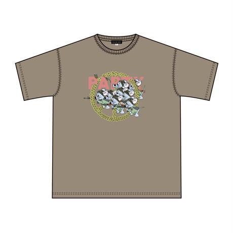 Mouse soldier Big silhouette tee / Acid khaki