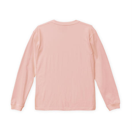 Mouse soldier Long sleeve tee / Off pink