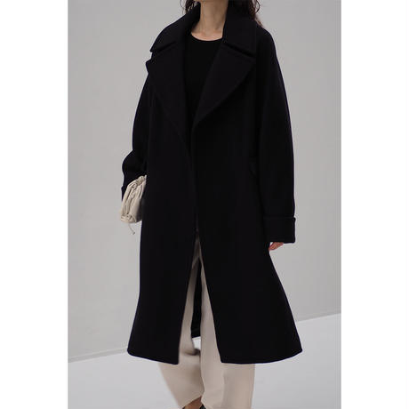 Big Lapel Wool Coat
