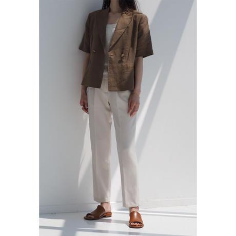 Linen HandStitch Jacket_brown