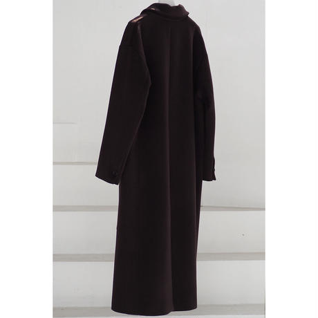Belted Straight Coat_Chocolate Brown
