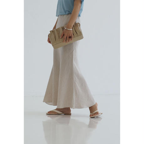 Linen Mermaid Skirt_beige