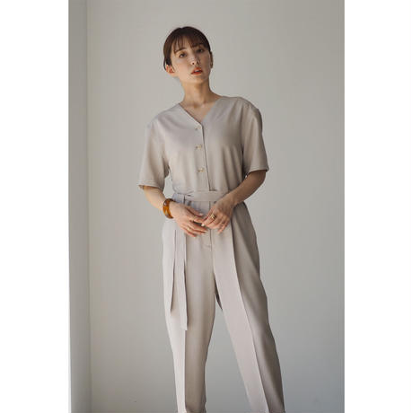 【Made In Japan】Belted  All In One_Greige