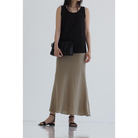 Linen Mermaid Skirt_khaki
