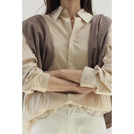 Wrinkle Shirt_yellowbeige